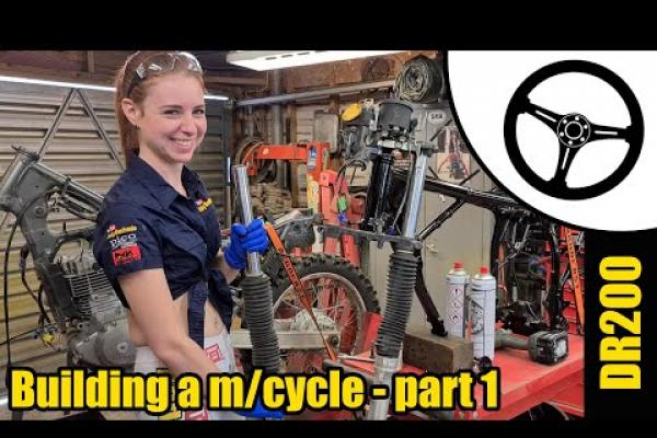Tool Girl Holley's DR200 project
